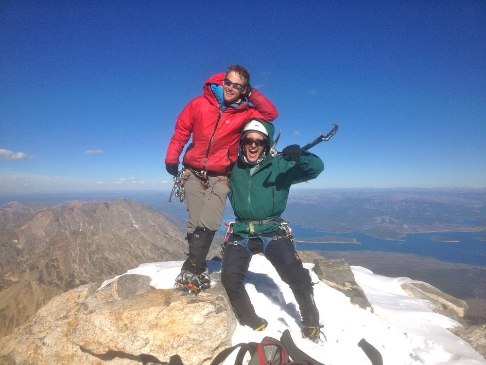 Greg Mallore & Taylor Luneau a top the Grand Teton. (Photo: Thomas Merkt)
