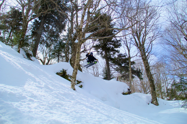 Sam Chalek sending it early on the first run.