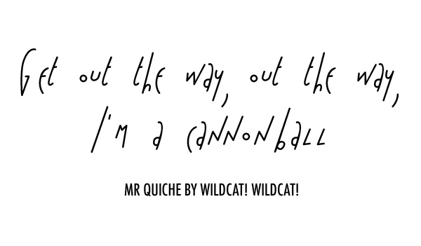 Wildcat! Wildcat! Lyrics for MR QUICHE