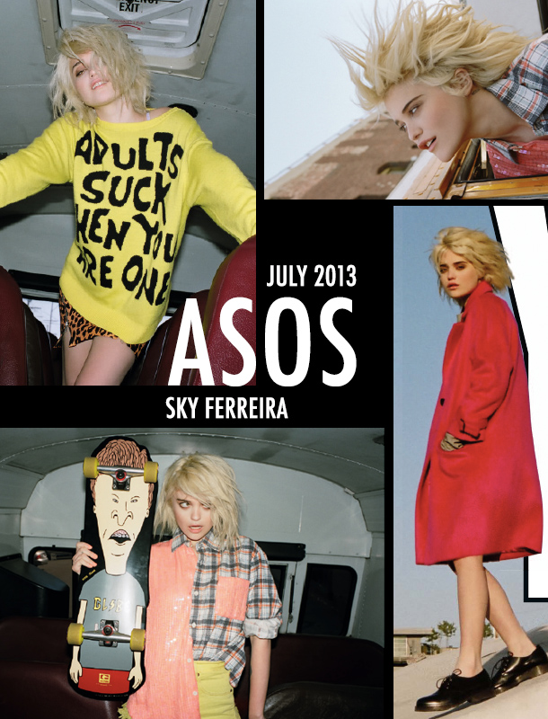 Sky Ferreira ASOS July Style 2013: Photography by Jason Lee Parry