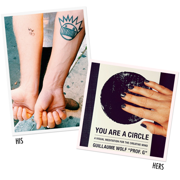 HIS + HERS: Gel nails, You Are A Circle and Tattoos