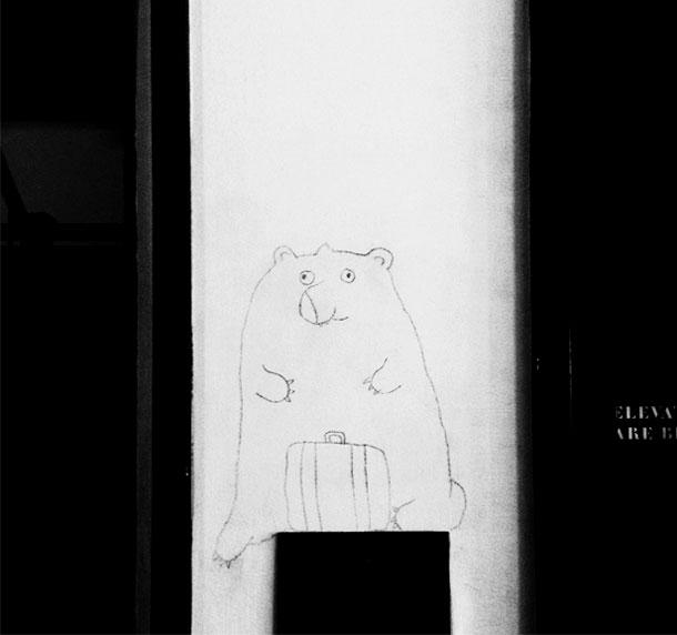 Simon and Nikolai Haas' wall drawings Ace Downtown Los Angeles