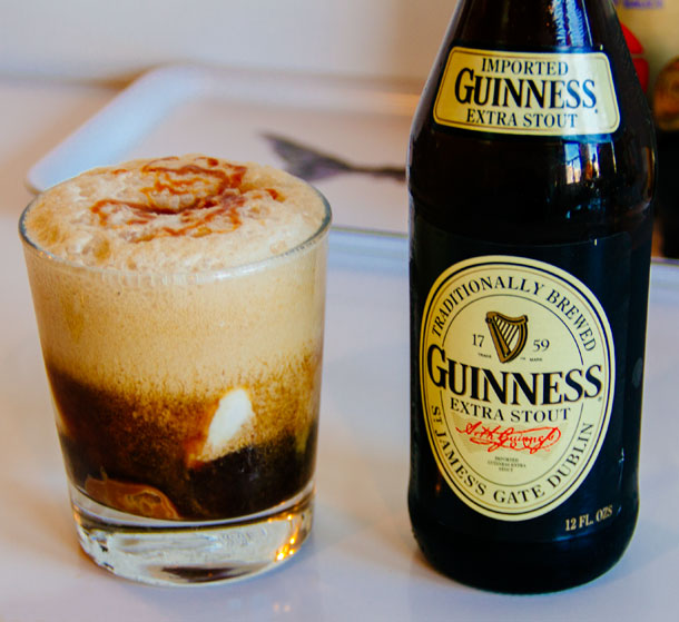 Guinness Extra Stout / Guinness Beer Floats Recipe / Bourbon and Goose