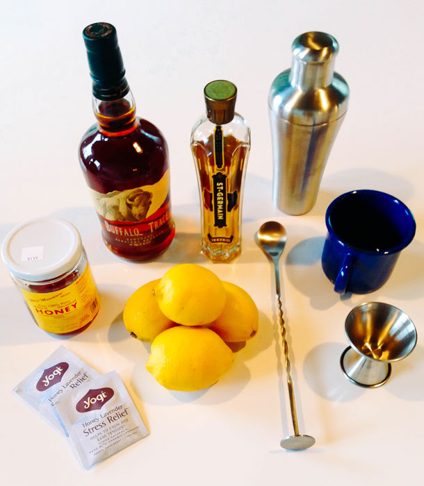 Stress Relief Hot Toddy / Ingredients