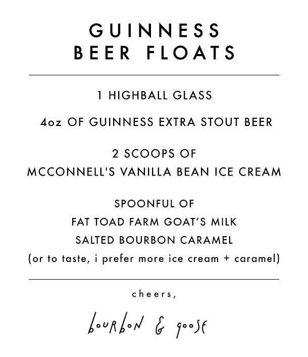 Guinness Beer Floats Recipe / Bourbon and Goose