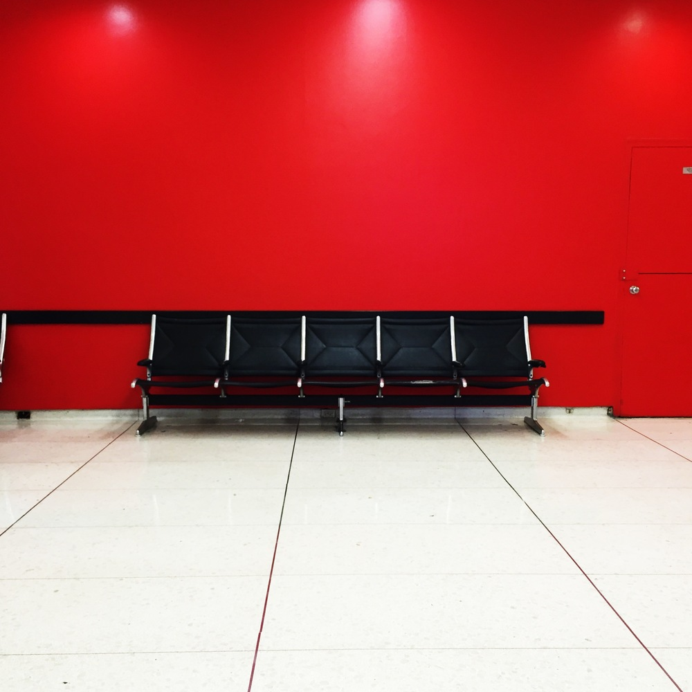 Arrive early at LAX and take a seat.