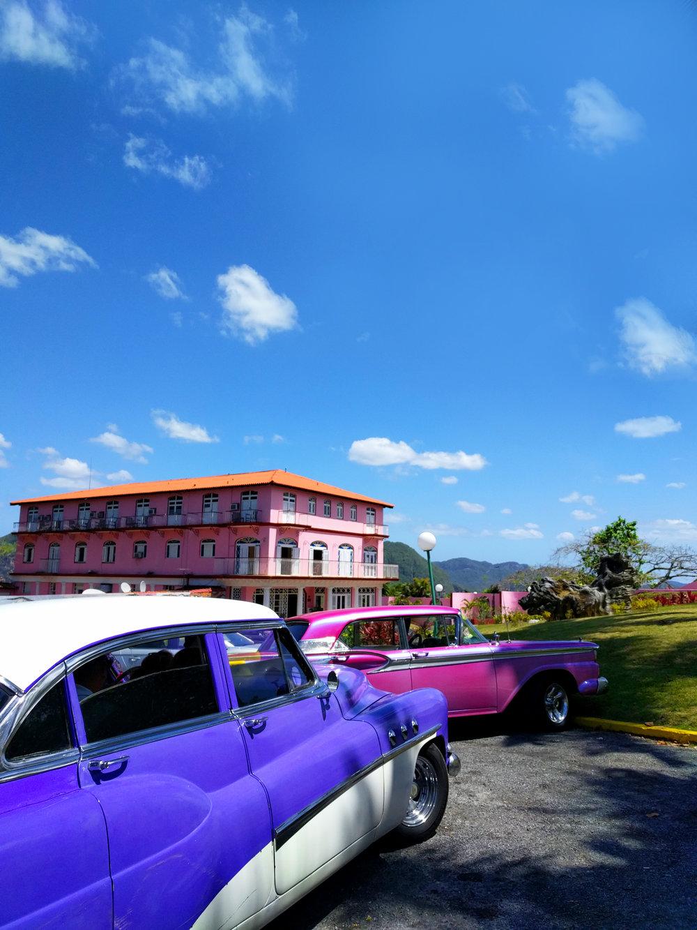 TravelCuba_Viñales_PurpleClassicCar.jpg