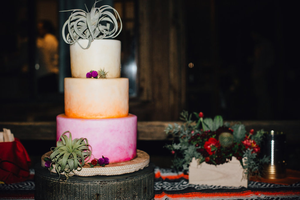 Wedding Cake with Succulents / Joshua Tree, CA