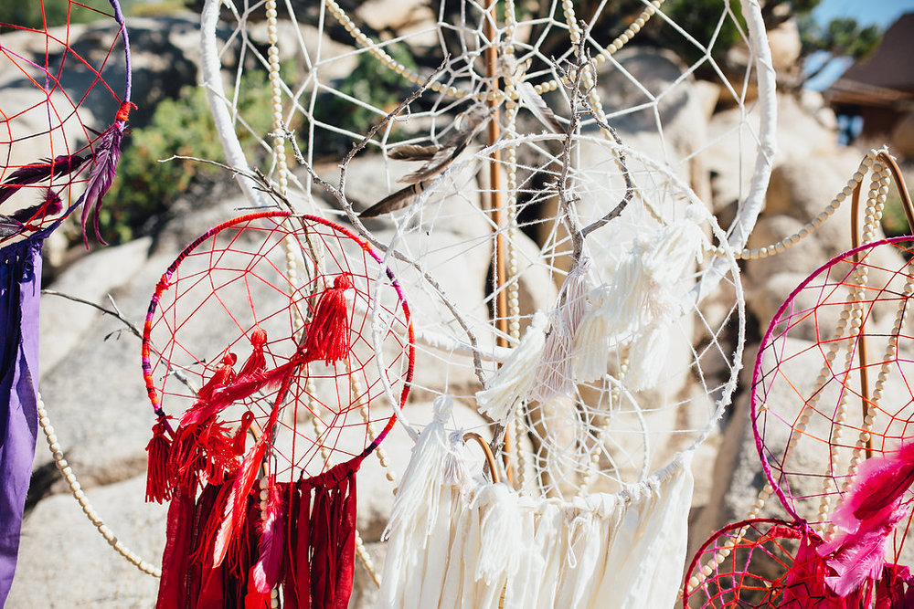 Dreamcatchers / Made by Boo Simms from Wylie West Creative / Joshua Tree Wedding