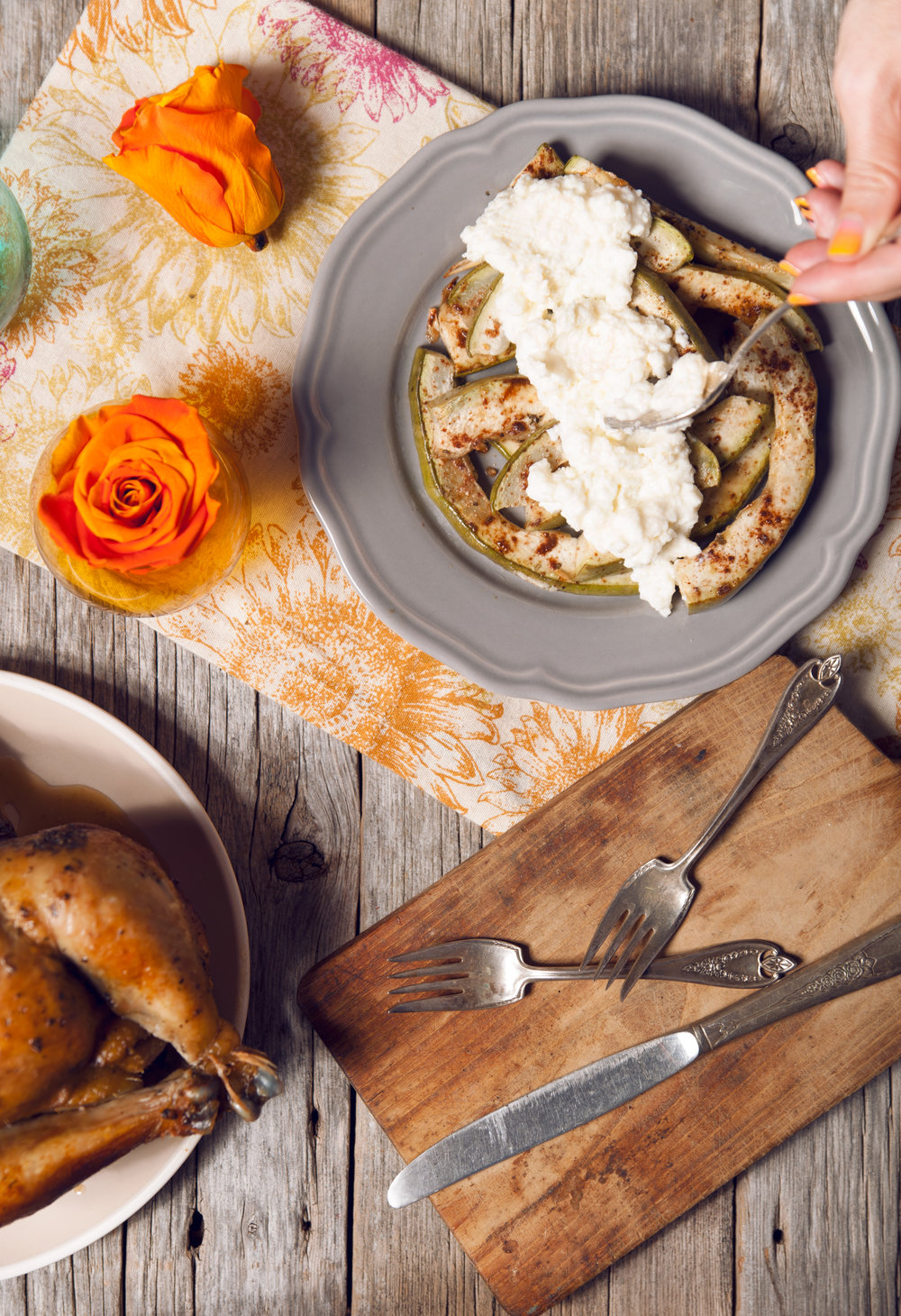 the perfect veggie side for any meal: baked squash + ricotta