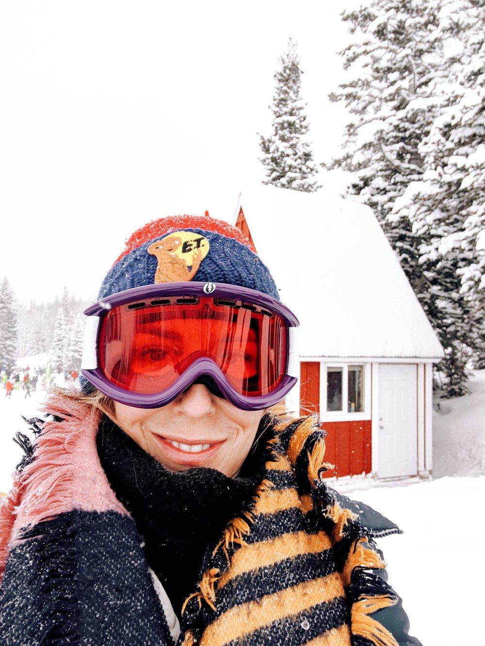 Selfie shot in portrait mode while gearing up for snowshoeing.  Photos taken on Google Pixel 3  Park City, Utah#TeamPixel