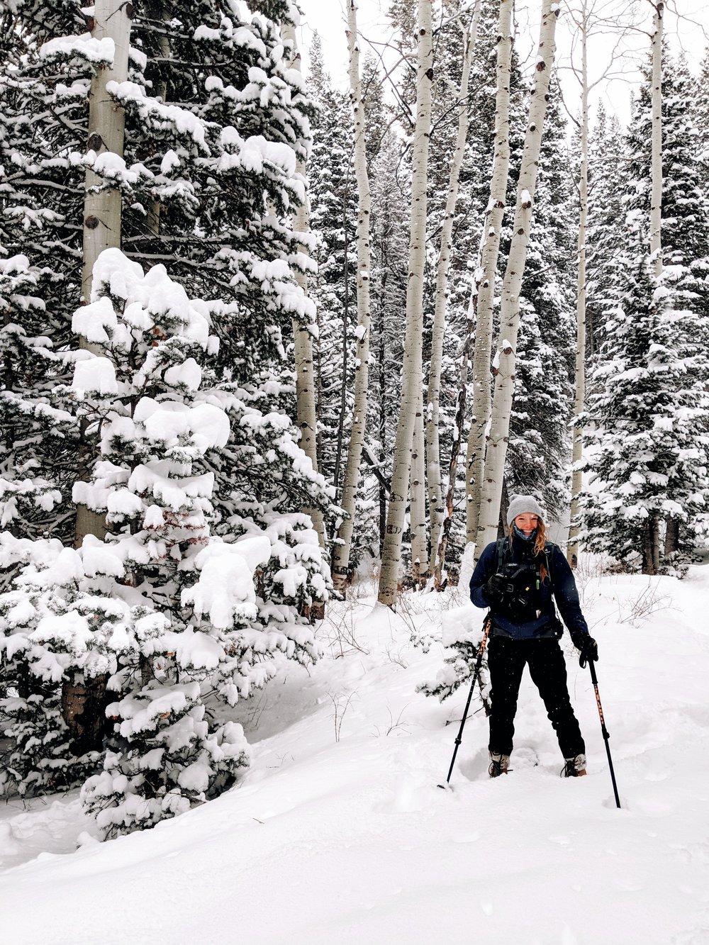 Our fearless leader for snowshoeing!  Photos taken on Google Pixel 3  Park City, Utah #TeamPixel