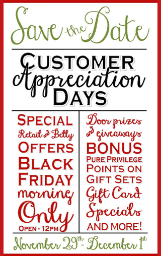 Ladies and Gentlemen Customer Appreciation Days 2013