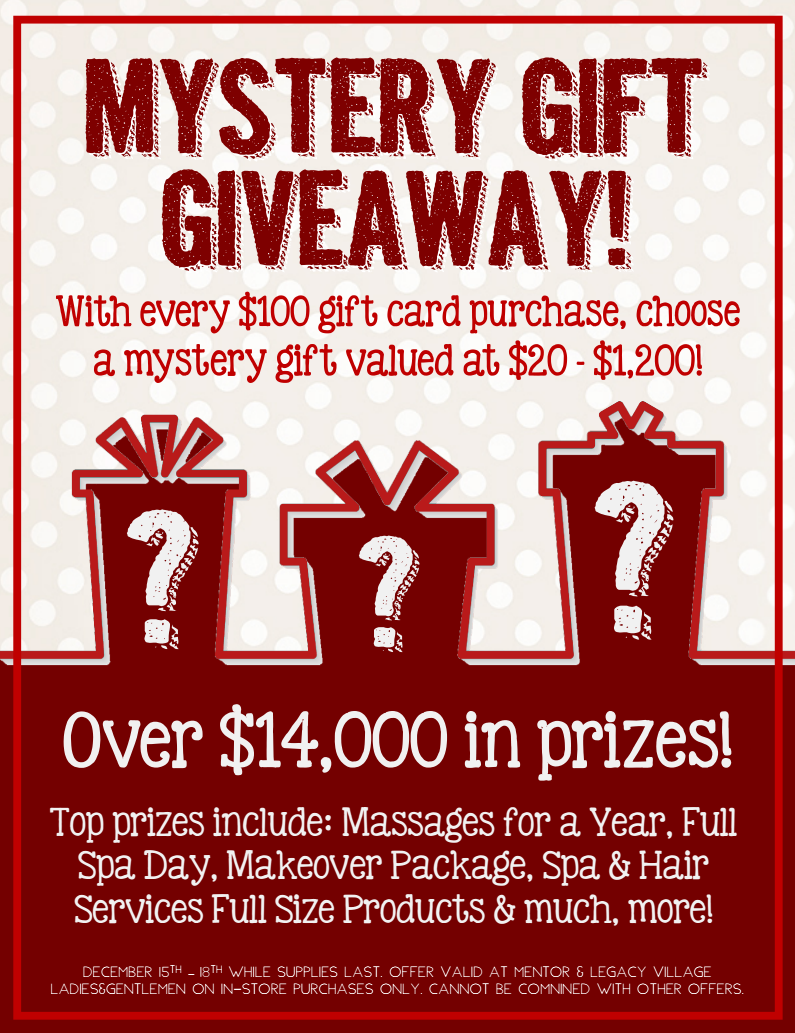 Mystery Gift Giveaway! — Ladies & Gentlemen Salon and Spa