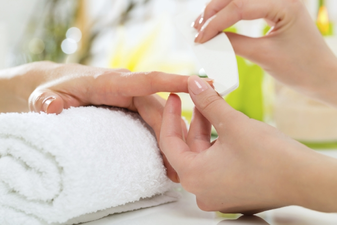 spa manicure at ladies & gentlemen salon and spa.jpg