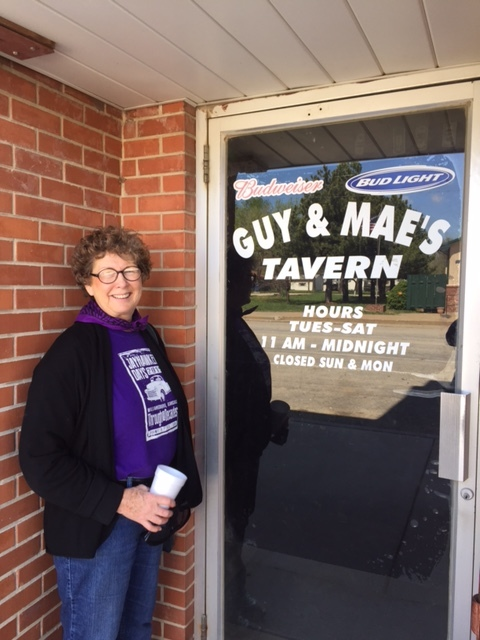 Williamsburg Kansas Tavern with Carolyn.JPG