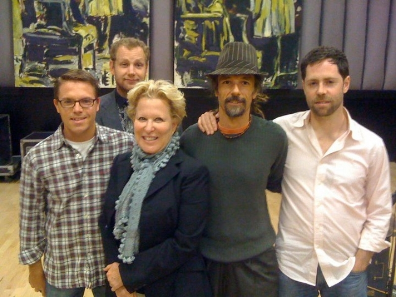 The Blue Vipers rehearsing with Bette Midler, NYC