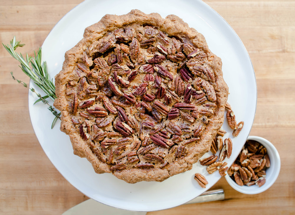 Pecan Pie - $32  | Shortbread Crust, Gooey Pecan Filling   Contains dairy, gluten, and egg, Serve room temperature