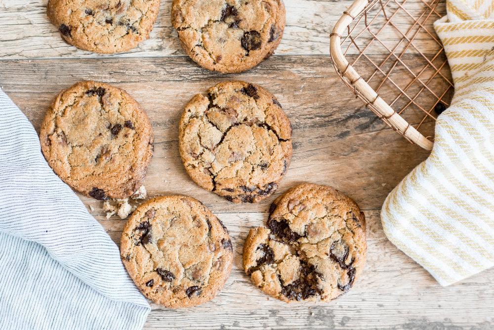 Fresh Baked Full Size Chocolate Chip Cookies