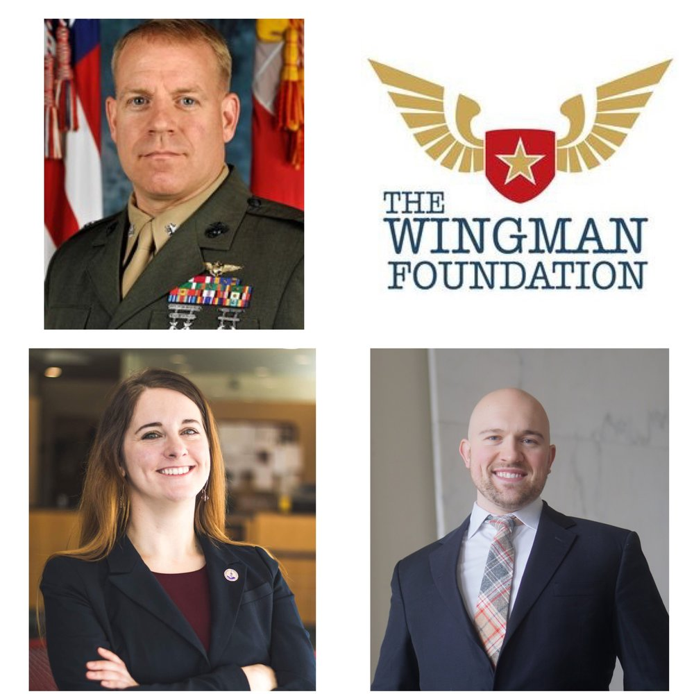 clockwise from upper left: LtCol Raible, Brennan Shearer, Tegan Griffith