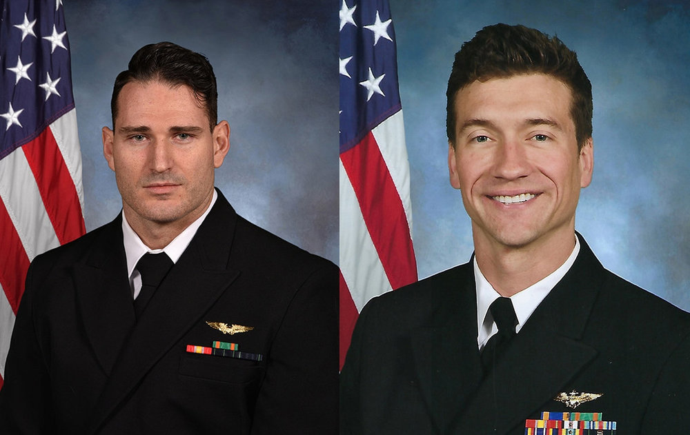 LT Caleb King (left) and LCDR Brice Johnson