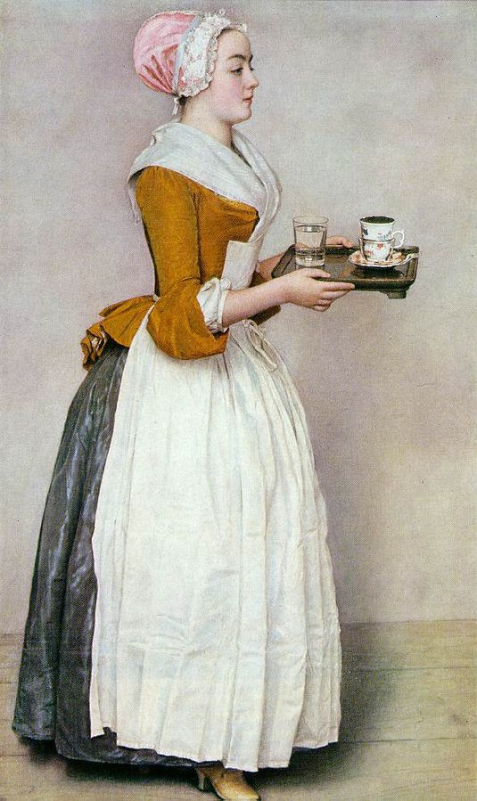 The Chocolate Girl , 1744-1745, Jean-Etienne Liotard