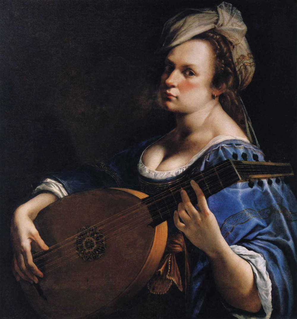 Self-Portrait as a Lute Player  , 1615–1617   Artemisia Gentileschi