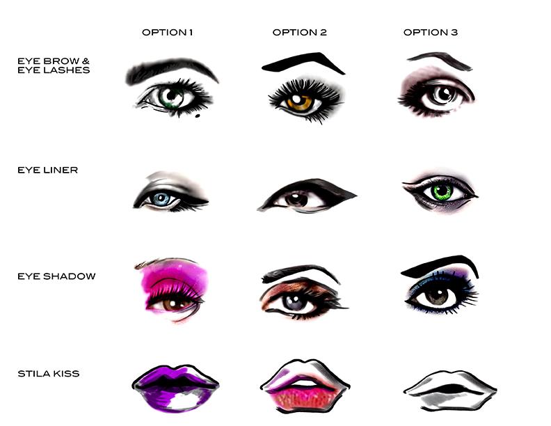 Stila Cosmetics Gondola Illustrations, April 2016