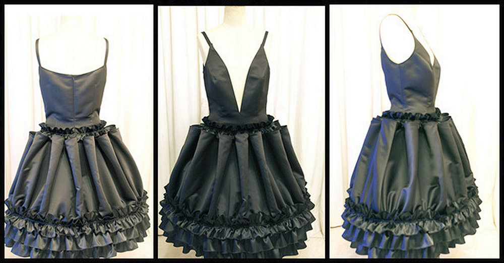 Actually this little black dress is custom designed by ModaRevise for a private client, but you get the idea.