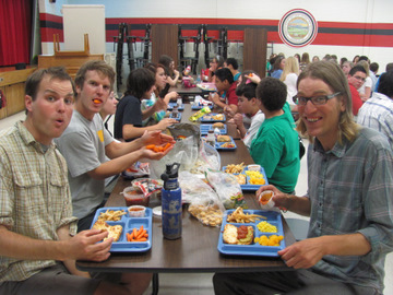 we ate school lunches with the next generation of middle schoolers.