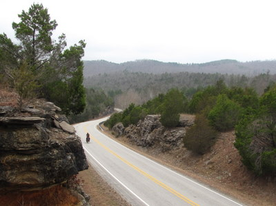A gradual uphill in the Ozark National Forest