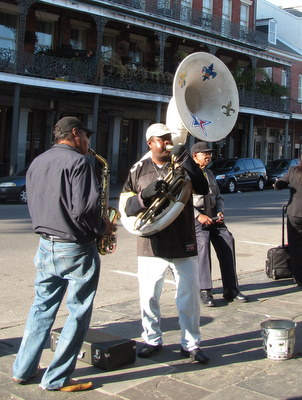 More music in the streets of New Oreleans.