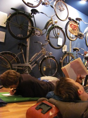 """Camped"" in the World Famous Little Congress Bicycle Museum"