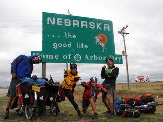 Biking...the good life. Entering state 10.