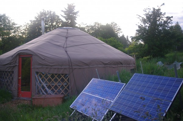 Shane and his wife's yurt built over the course of one year