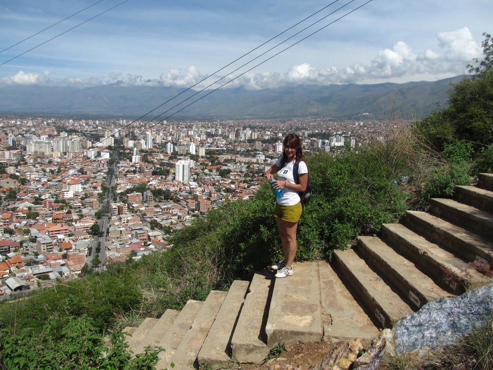 Andrea and I get some exercise and some views of Cochabamba as we walk the steps to the giant statue of Jesus Crist.