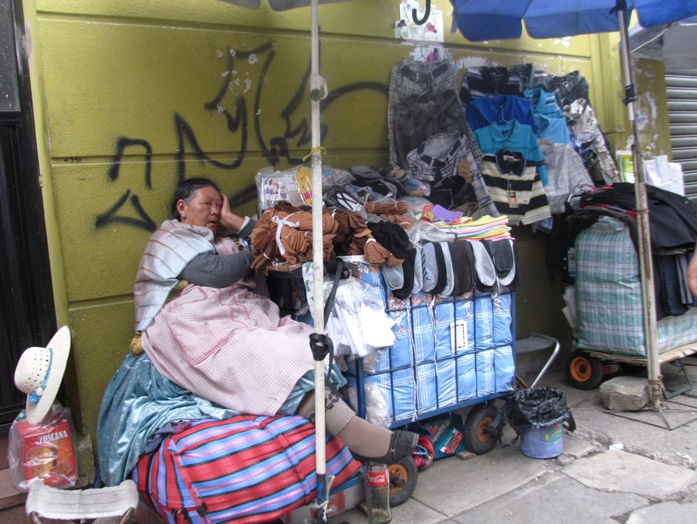 No matter what you need, you can find someone selling it on the streets of Cochabamba.