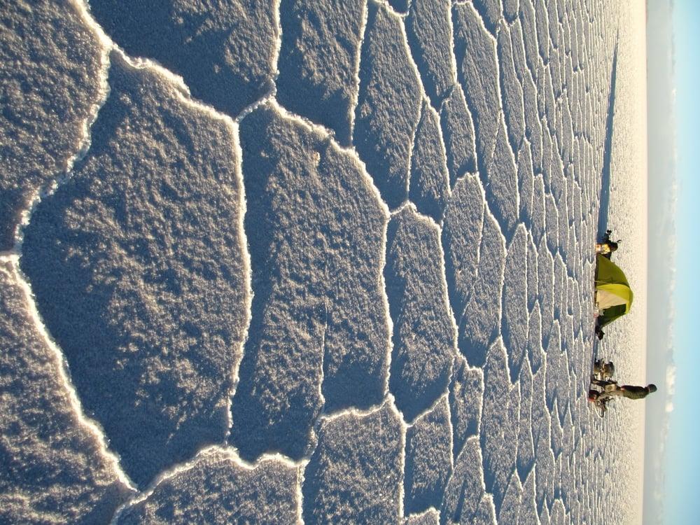 Camping on Salar de Uyuni.