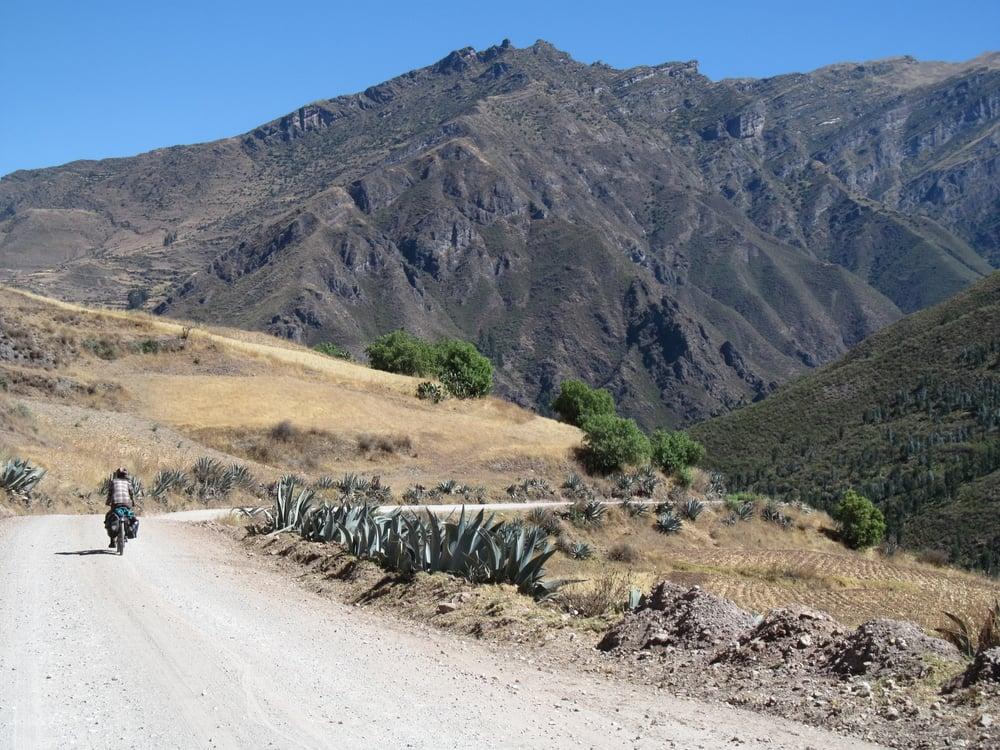 Climbing away from Lago Titicaca.