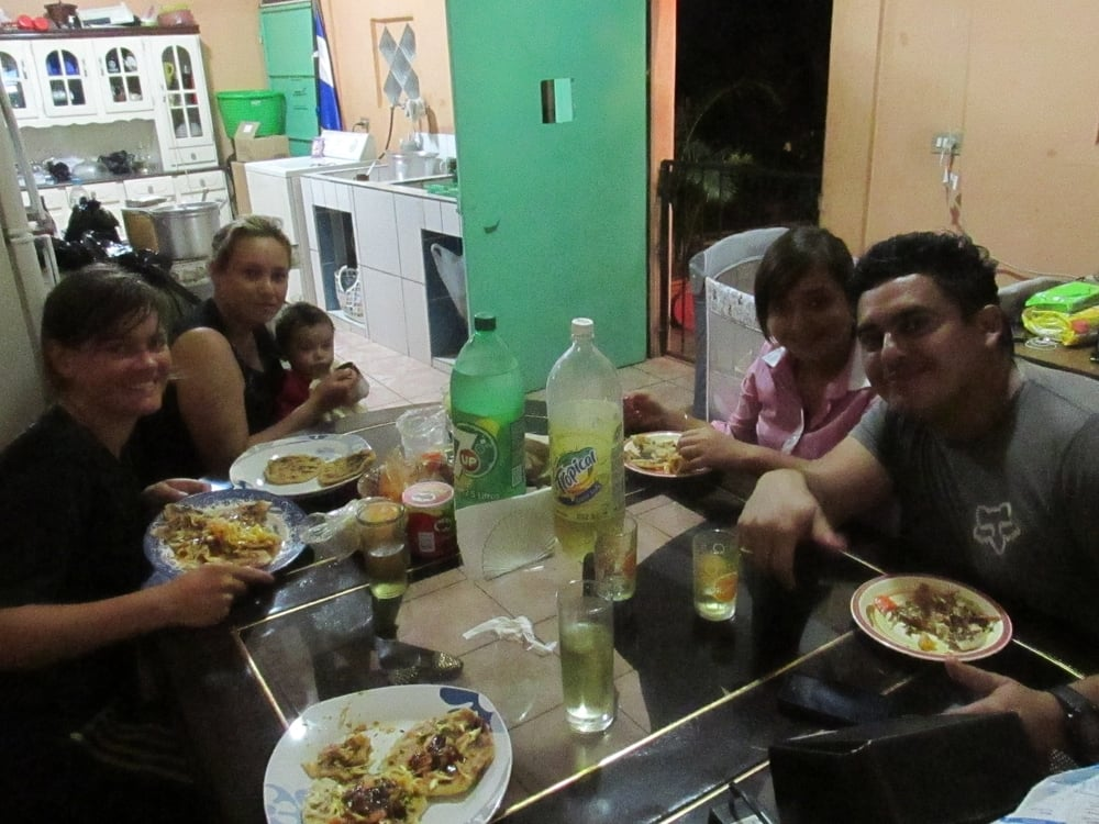 Lorena, Luis, Amy, and Kati invited us to stay at their house and enjoy some delicious food.