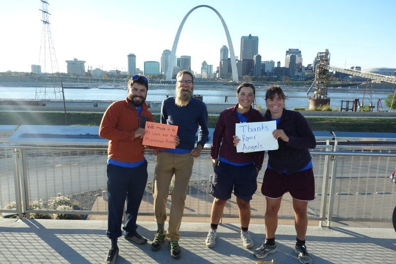 We made it to the St. Louis arch, but not without the help of River Angels along the way!