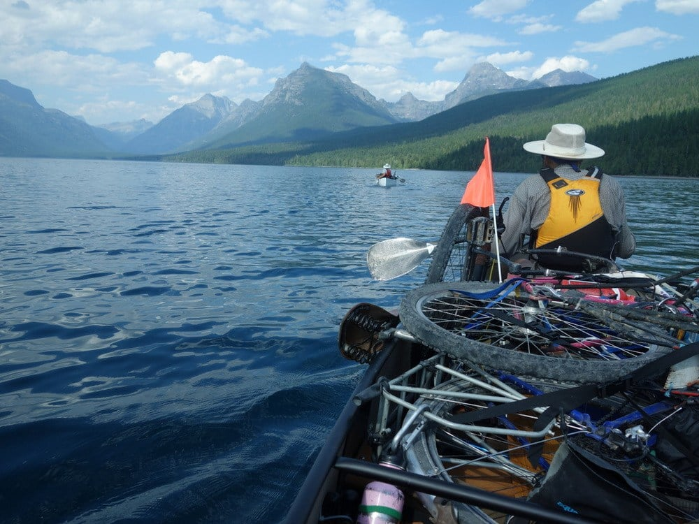 Our test ride with gear is on one of the most beautiful lakes in the world.