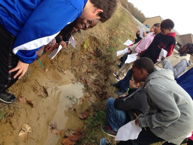 These sixth graders discover that nature can be found is the most unlikely places.