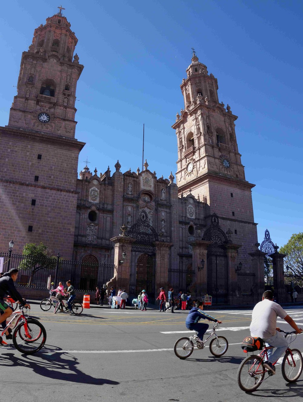 Morelia has pleanty of churches and old buildings.