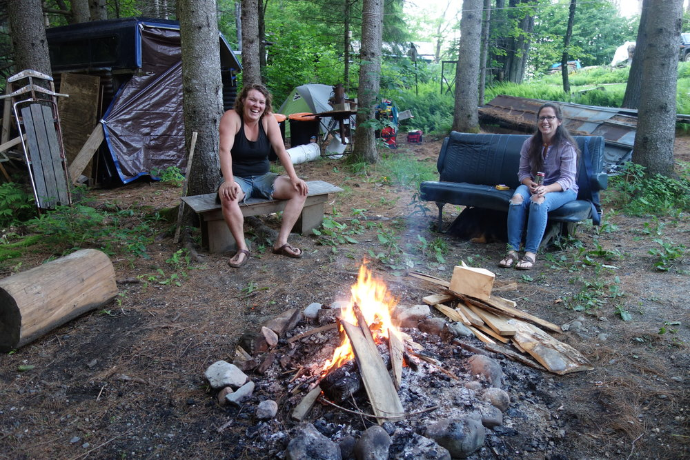 Now THAT is a Vermont campfire. Thanks to a recently attended wedding we roasted a lot of s'mores on the fire while I rested at Jess' house.