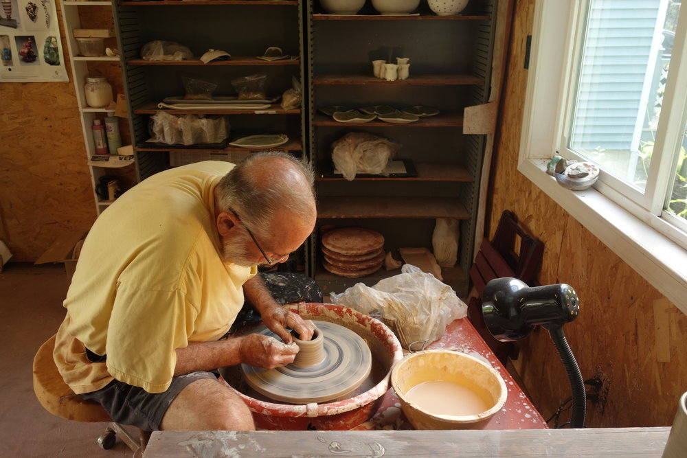 Don and Bruce are potters, monarch stewards, and all round pleasant company. I stayed an extra day to rest, chat, and even play with clay.