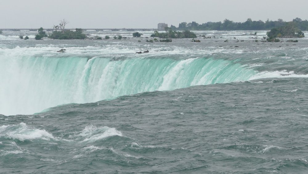 I could see the mist and hear the rumbling of Niagara Falls before I got to them.