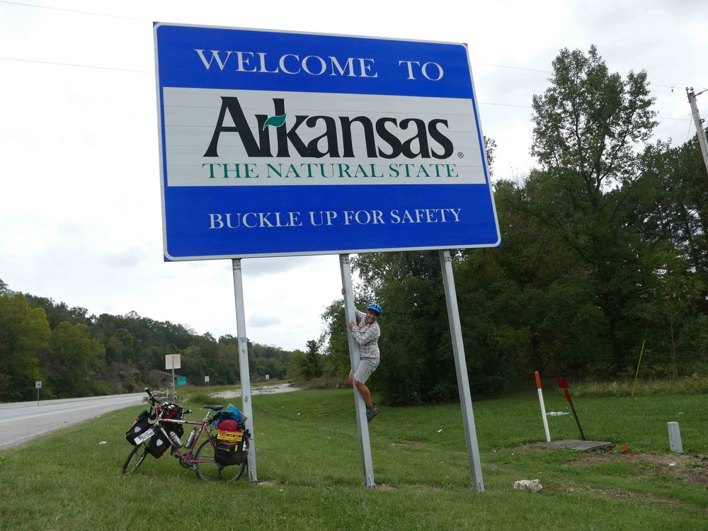 I celebrated making it to Arkansas, the last new state of my trip AND the 8,000 mile mark.
