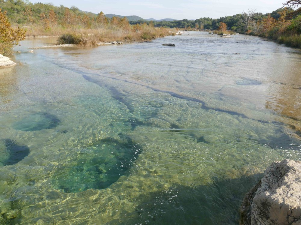 I made sure to enjoy the public land I could find in TX, which included a swim in the State Park Rio Frio.