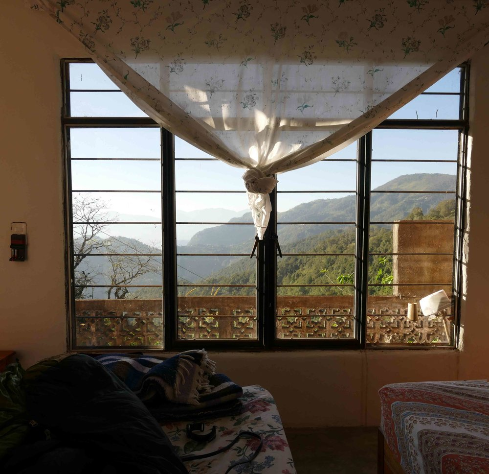 Chole's house was amazing and overlooked a great view.